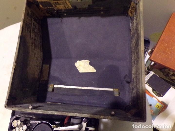 Antigüedades: maquina de escribir portatil con su maleta de madera underwood - Foto 13 - 262692660
