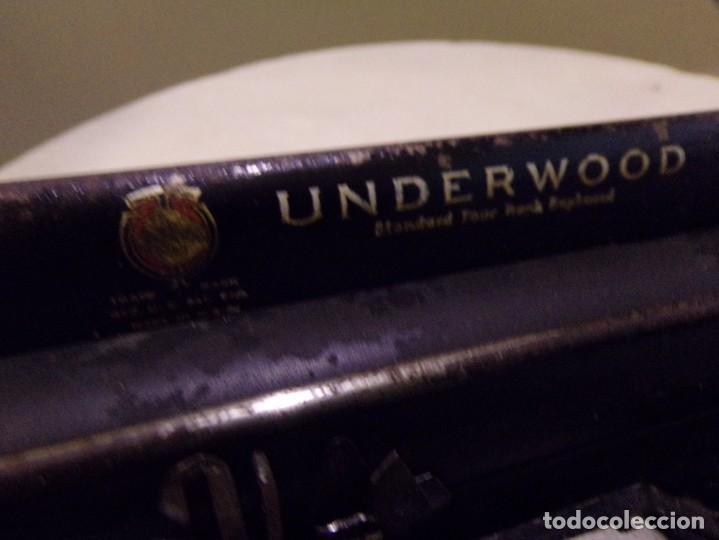 Antigüedades: maquina de escribir portatil con su maleta de madera underwood - Foto 15 - 262692660