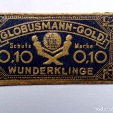 Antigüedades: HOJA DE AFEITAR ANTIGUA,GLOBUSMANN GOLD,WUNDERKLINGE.. Lote 262693205
