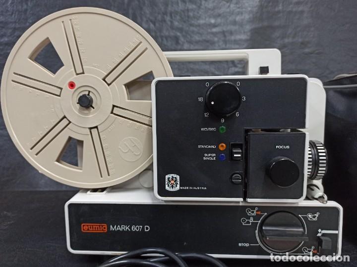 Antigüedades: Antiguo proyector de super 8. Eumig Mark 607 D. CG1 - Foto 3 - 262694150
