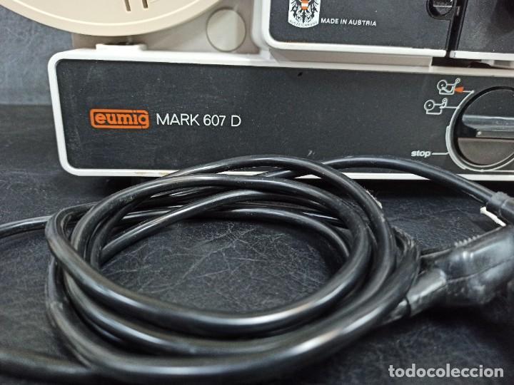 Antigüedades: Antiguo proyector de super 8. Eumig Mark 607 D. CG1 - Foto 6 - 262694150