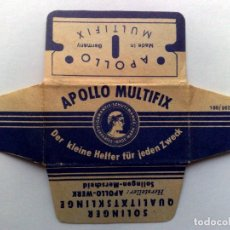 Antigüedades: HOJA DE AFEITAR ANTIGUA,APOLLO MULTIFIX,SOLINGEN (APOLLO WERK). Lote 262696730