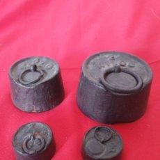 Antigüedades: ANTIGUAS PESAS BÁSCULA. Lote 262731960