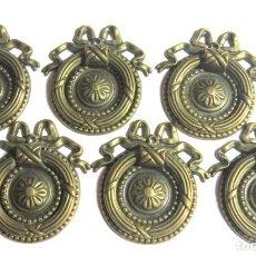 Antigüedades: LOTE DE SEIS TIRADORES CAJONERAS. Lote 262733990