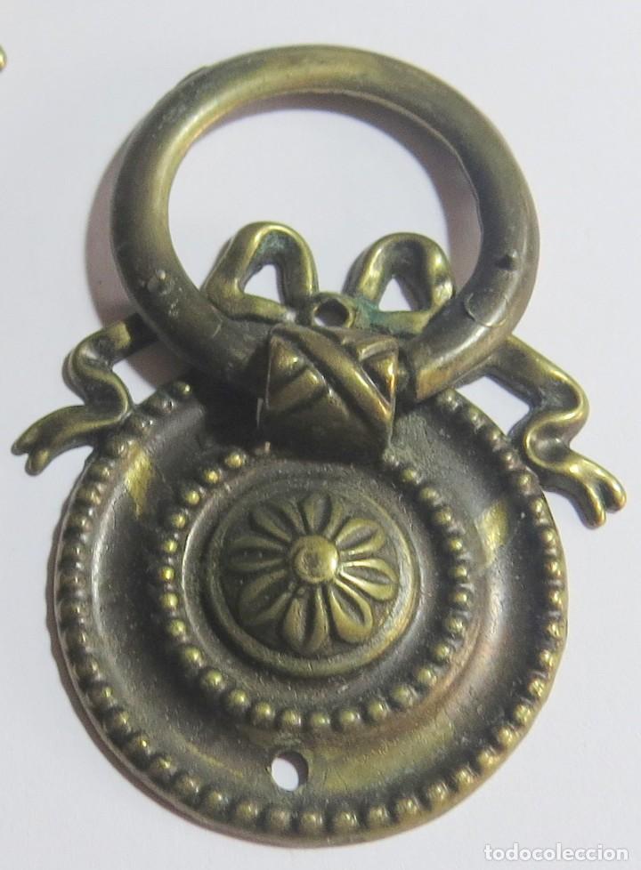 Antigüedades: LOTE DE SEIS TIRADORES CAJONERAS - Foto 4 - 262733990