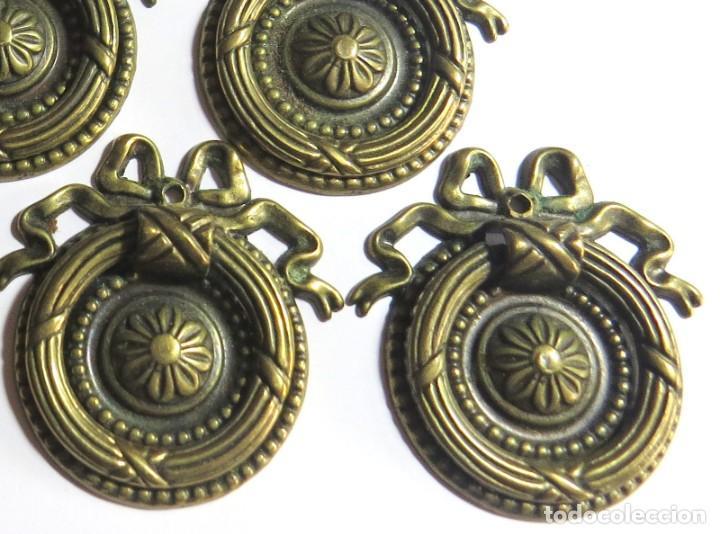 Antigüedades: LOTE DE SEIS TIRADORES CAJONERAS - Foto 7 - 262733990