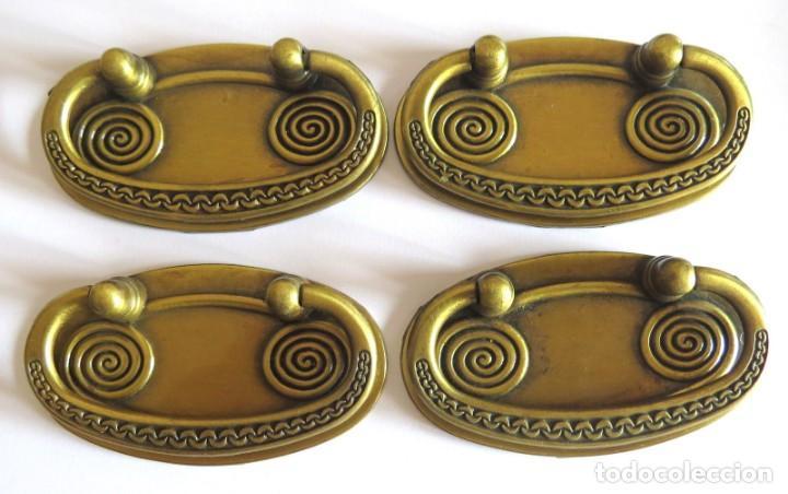 LOTE DE CUATRO TIRADORES PARA CAJONES (Antigüedades - Técnicas - Cerrajería y Forja - Tiradores Antiguos)