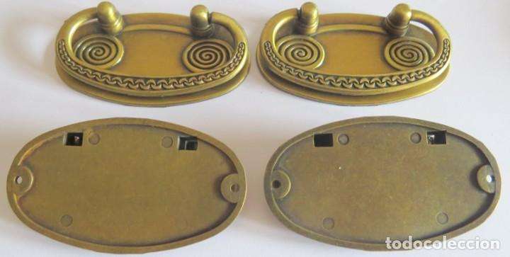 Antigüedades: LOTE DE CUATRO TIRADORES PARA CAJONES - Foto 3 - 262737910