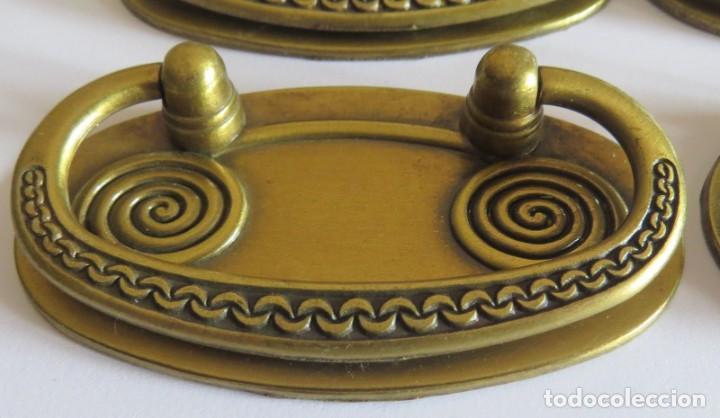 Antigüedades: LOTE DE CUATRO TIRADORES PARA CAJONES - Foto 5 - 262737910