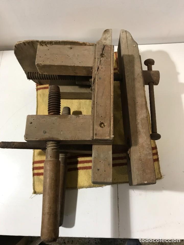Antigüedades: TORNILLOS DE BANCO - PRENSA CARINTERIA ANTIGUO - Foto 3 - 262738145