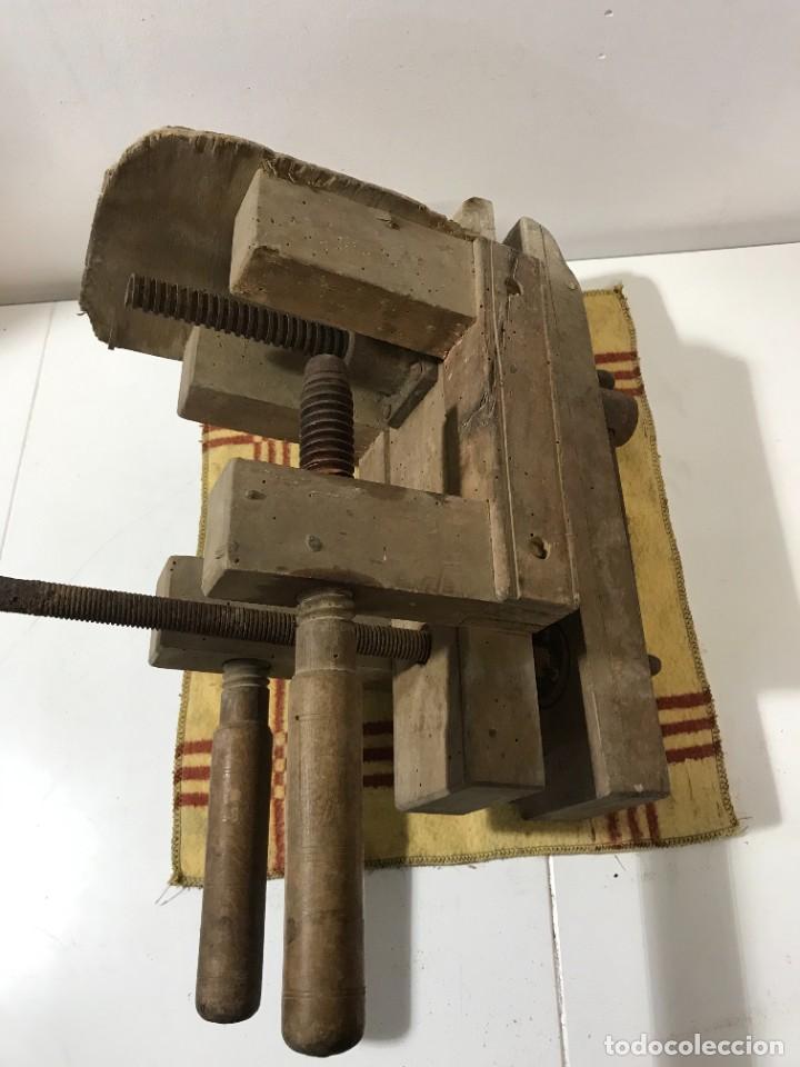 Antigüedades: TORNILLOS DE BANCO - PRENSA CARINTERIA ANTIGUO - Foto 5 - 262738145