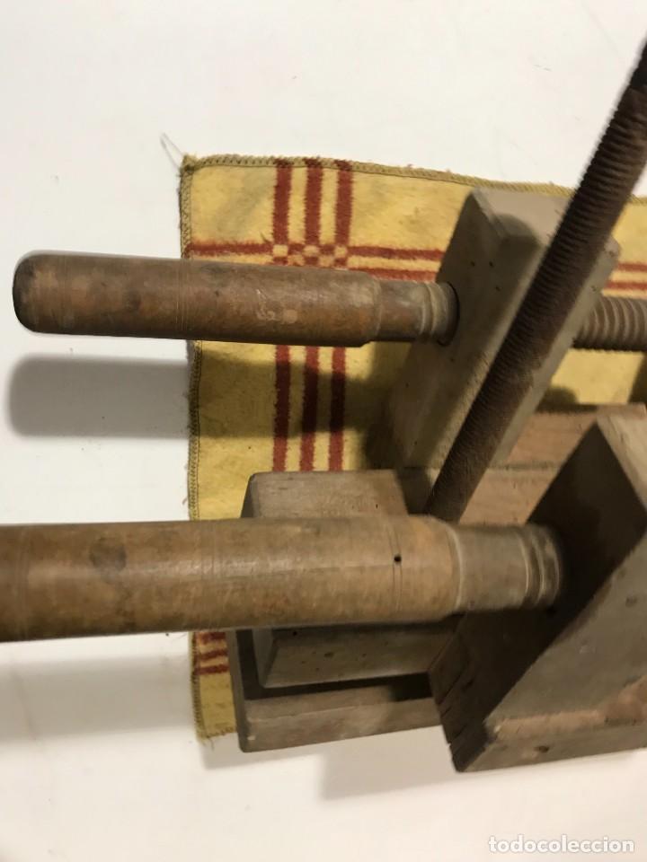 Antigüedades: TORNILLOS DE BANCO - PRENSA CARINTERIA ANTIGUO - Foto 7 - 262738145