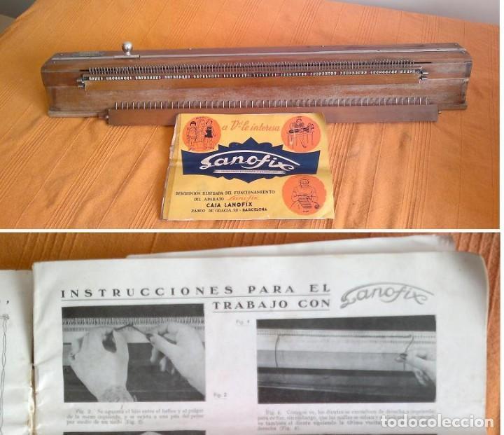 TRICOTOSA ANTIGUA MARCA LANOFIX CON MANUEAL (Antigüedades - Técnicas - Máquinas de Coser Antiguas - Otras)