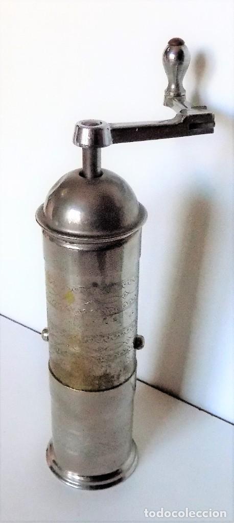MOLINILLO DE CAFÉ MARCA PE. DE. MODELO 461. ALEMANIA. CA. 1920/1955 (Antigüedades - Técnicas - Molinillos de Café Antiguos)