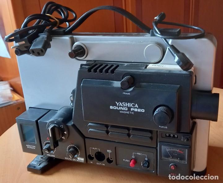 Antigüedades: Proyector Super 8mm Yashica Sound P820 - Foto 2 - 262907030