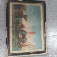 Antigüedades: ANTIGUO CUADRO DE SALIDA DE COLON DEL PUERTO DE PALOS. Lote 262939740