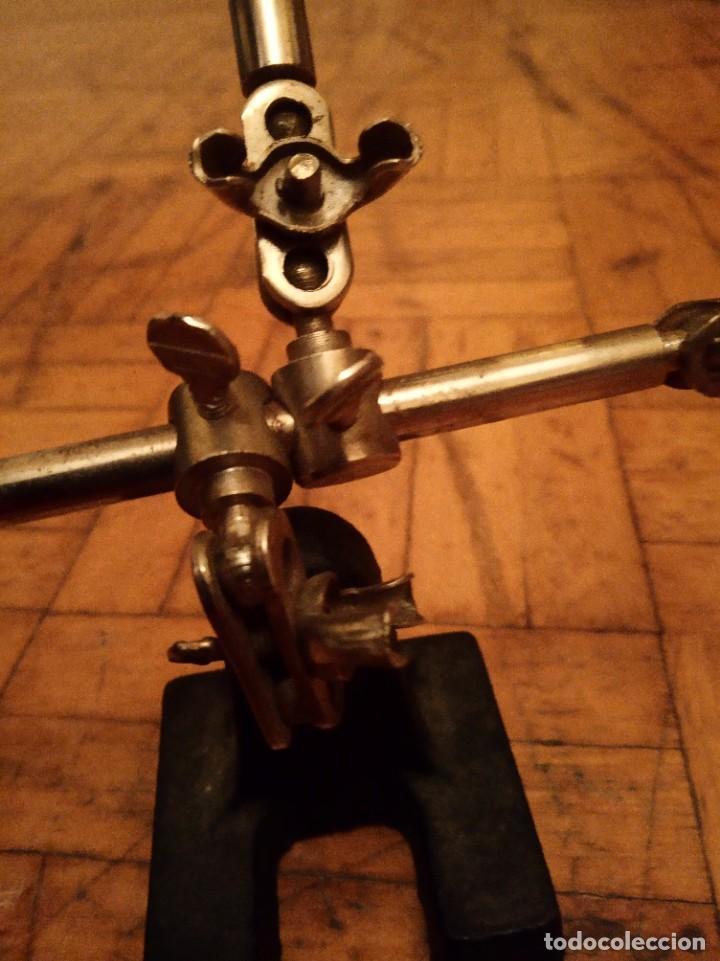 Antigüedades: Lupa ajustable antigua joyero, relojero. - Foto 2 - 262975550