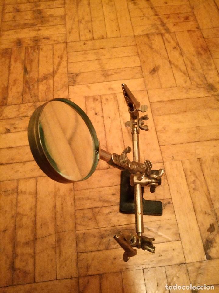 Antigüedades: Lupa ajustable antigua joyero, relojero. - Foto 5 - 262975550