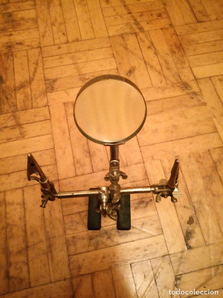 Antigüedades: Lupa ajustable antigua joyero, relojero. - Foto 7 - 262975550