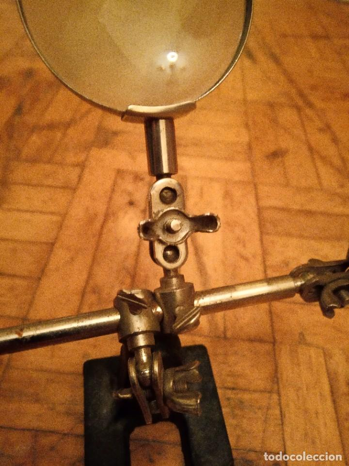 Antigüedades: Lupa ajustable antigua joyero, relojero. - Foto 8 - 262975550