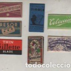 Antigüedades: LOTE DE 7 HOJAS DE AFEITAR DISTINTAS. Lote 263007310