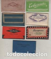 Antigüedades: lote de 7 hojas de afeitar distintas - Foto 2 - 263007310