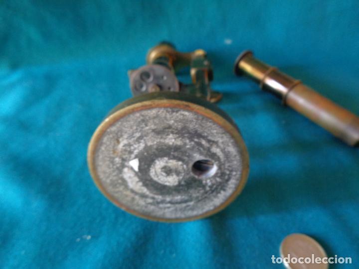 Antigüedades: ANTIGUO MICROSCOPIO DE BRONCE SOLEIL PARIS - Foto 6 - 263009915