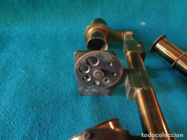 Antigüedades: ANTIGUO MICROSCOPIO DE BRONCE SOLEIL PARIS - Foto 7 - 263009915