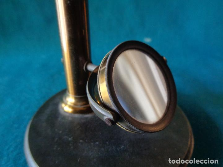 Antigüedades: ANTIGUO MICROSCOPIO DE BRONCE SOLEIL PARIS - Foto 8 - 263009915