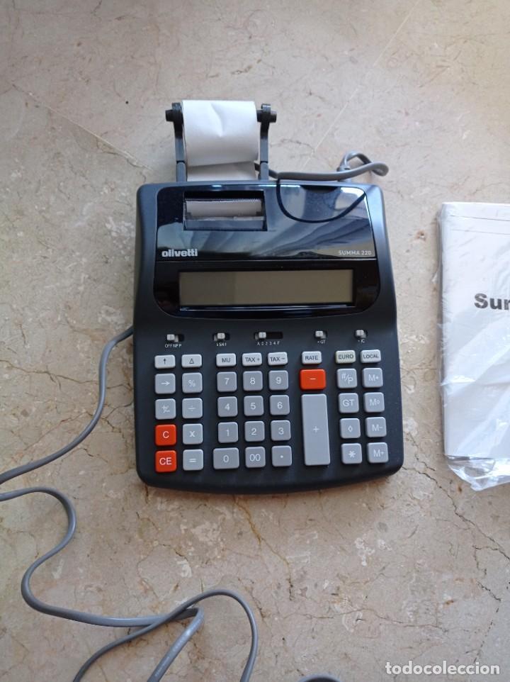 CALCULADORA OLIVETTI 220 (Antigüedades - Técnicas - Aparatos de Cálculo - Calculadoras Antiguas)
