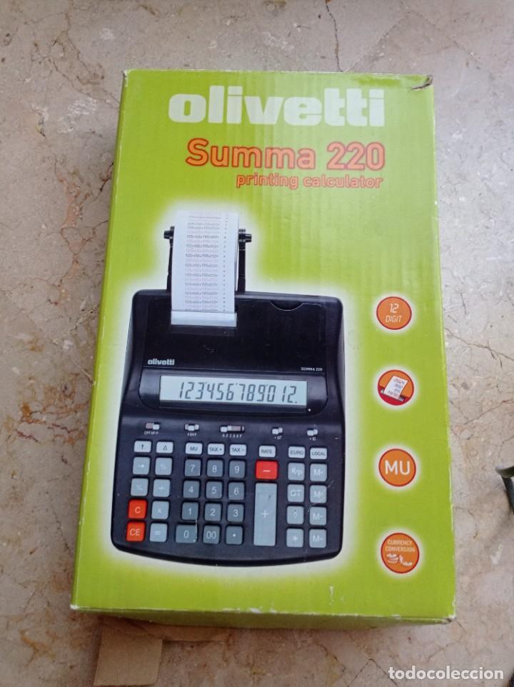 Antigüedades: CALCULADORA OLIVETTI 220 - Foto 3 - 263058070