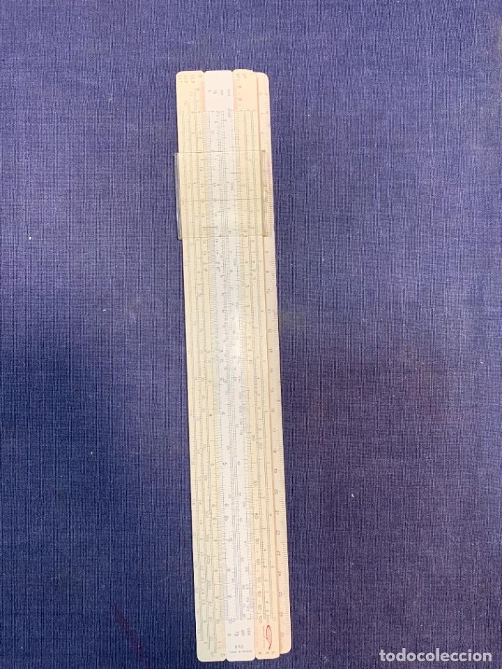 Antigüedades: REGLA DE PRECISION CALCULO RAPHOPLEX CON SU FORRO 5X30CMS - Foto 8 - 263064555