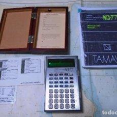 Antigüedades: TAMAYA CALCULADORA DE NAVEGACION,IMPECABLE,SU CAJA,INSTRUCCIONES RARISIMA. Lote 263067220
