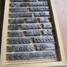 Antigüedades: IMPRENTA - CAJA LETRAS DE PLOMO - CUERPO 36 OPAL -. Lote 263077750