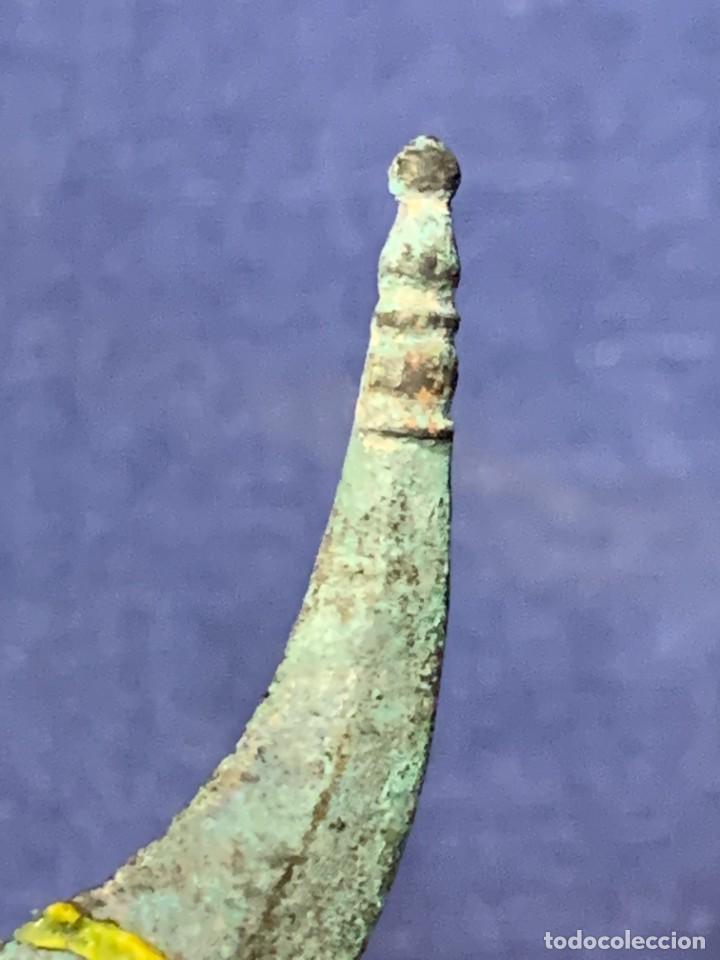 Antigüedades: UTIL QUIRURGICO ARQUEOLOGICO ROMANO CIRUGIA MEDICINA SEPARADOR TENSOR PATINA BRONCE 19,5X4,5CMS - Foto 8 - 263077840