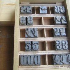 Antigüedades: IMPRENTA - NÚMEROS DE PLOMO CUERPO 60 GUTENBERG. Lote 263078095
