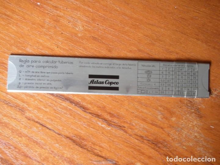 Antigüedades: REGLA CÁLCULO TUBERÍAS AIRE COMPRIMIDO NEUMÁTICA - Foto 5 - 263193410