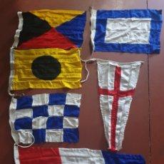 Antigüedades: ANTIGUO SOBRANTE DE CODIGO INTERNACIONAL DE SEÑALES DE BARCO. Lote 263194490