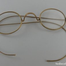 Antiquités: ANTIGUAS GAFAS BINÓCULOS CHAPADAS DE ORO BONITA PIEZA DE COLECCIÓN. Lote 263298180