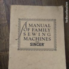 Antigüedades: MANUAL MÁQUINA COSER SINGER INGLÉS. 63 PÁGINAS ILUSTRACIONES. CAJÓN MANUALES. Lote 263528655