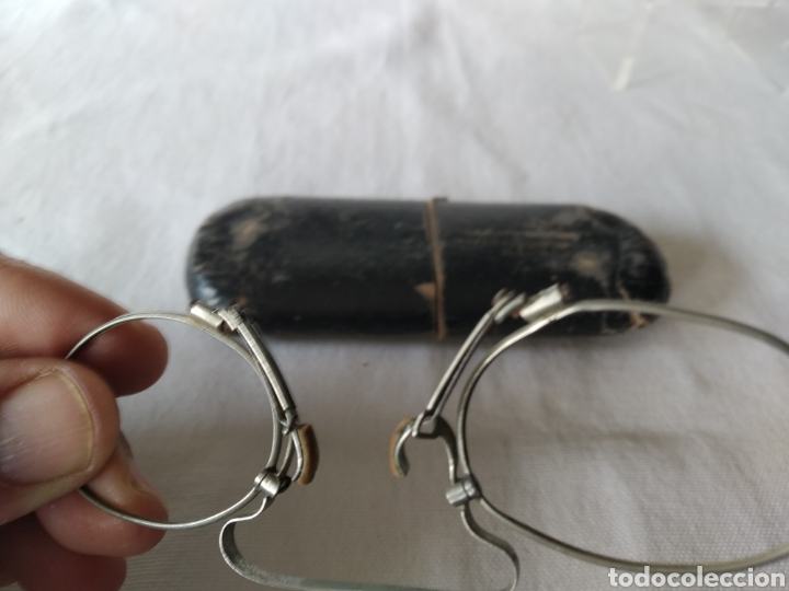 Antigüedades: ANTIGUA MONTURA DE GAFAS SISTEMA SIN PATILLAS - Foto 12 - 263569700