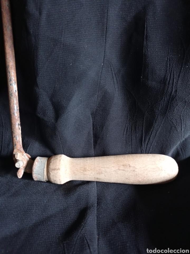 Antigüedades: ANTIGUA SEGUETA DE MARQUETERIA / DE ARCO ANCHO - Foto 2 - 263674810