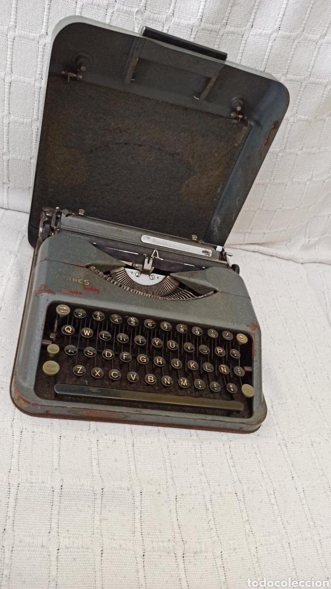 Antigüedades: Máquina de escribir hermes baby Suisse - Foto 4 - 263693880