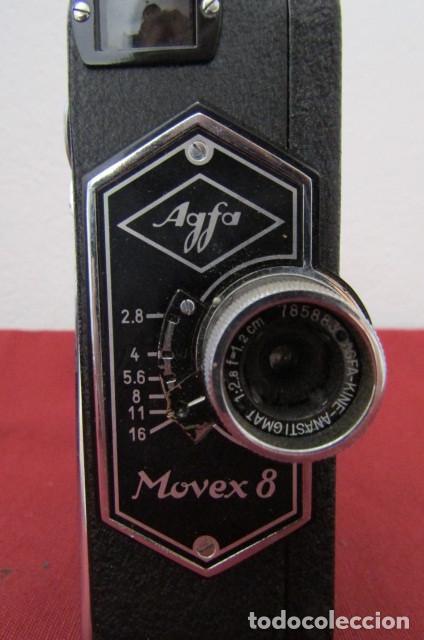 Antigüedades: Antigua Cámara filmadora de cine alemana marca Agfa modelo Movex 8 año 1938 con su estuche original - Foto 4 - 263743065