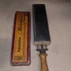 Antigüedades: ASENTADOR AFILADOR NAVAJAS MANNOS. Lote 263774510