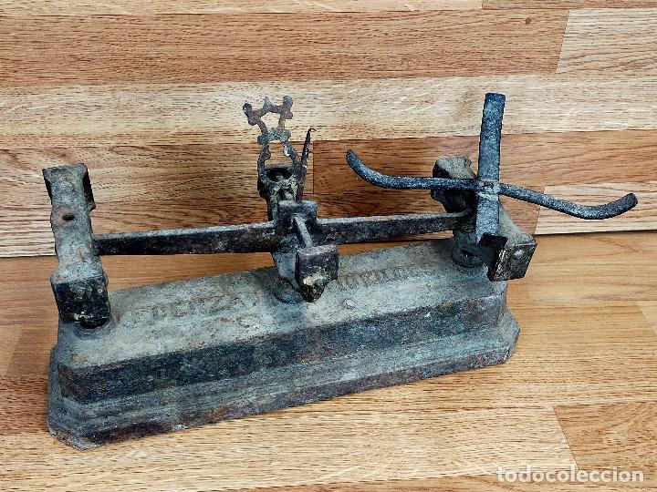 BASCULA HIERRO 10 KG (Antigüedades - Técnicas - Medidas de Peso - Básculas Antiguas)
