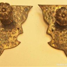 Antigüedades: 2 VIEJOS ADORNOS PARA MUEBLES. Lote 264043000