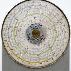 Oggetti Antichi: ANTIGUA REGLA DE CÁLCULO CIRCULAR HOLANDESA ALRO AÑO 1938. Lote 264090710