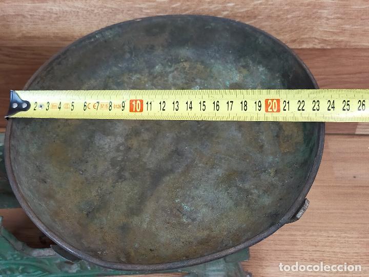 Antigüedades: ANTIGUA BALAZNA CON PLATOS - Foto 3 - 264146780