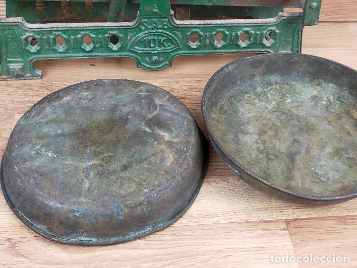 Antigüedades: ANTIGUA BALAZNA CON PLATOS - Foto 5 - 264146780
